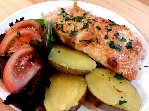 Salmón en salsa de cítricos